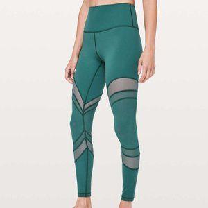 New Lululemon Seek The Heat High Rise Green tights